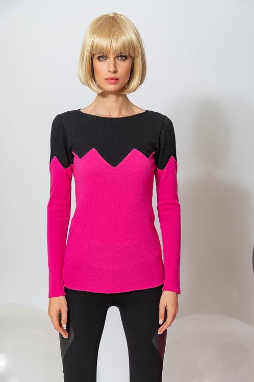 Merino-Pullover Zickzack Mood