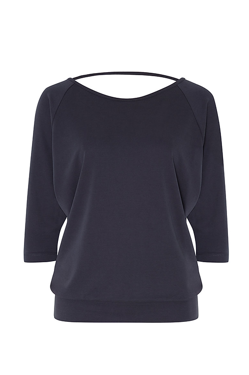 "Shirt ""XANI"" in Blaugrau aus Modaljersey"