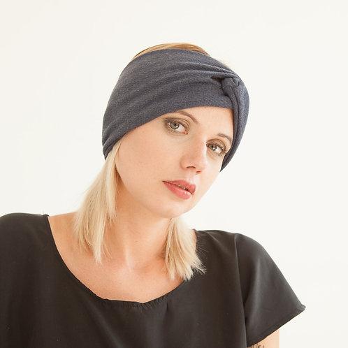 Stirnband Blauer aus Baumwollstrick