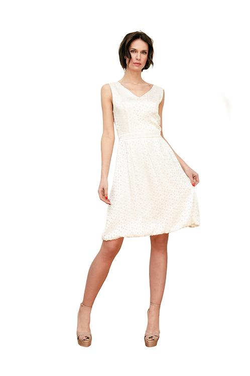 Dress Transparent Dots White