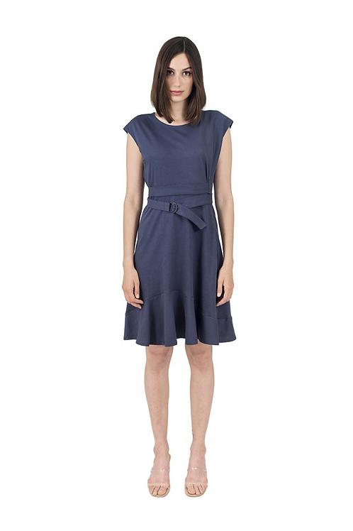 Kleid Volant zum Binden Graphit