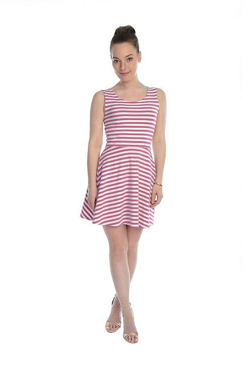 Sommerkleid Betty weiß/rosé