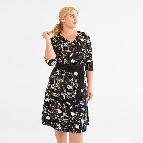 Kleid in Wickeloptik Flori