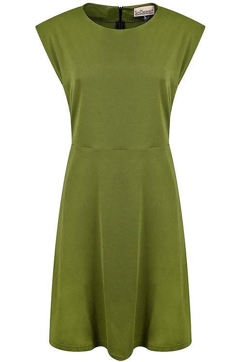 Kurzes Kleid grün