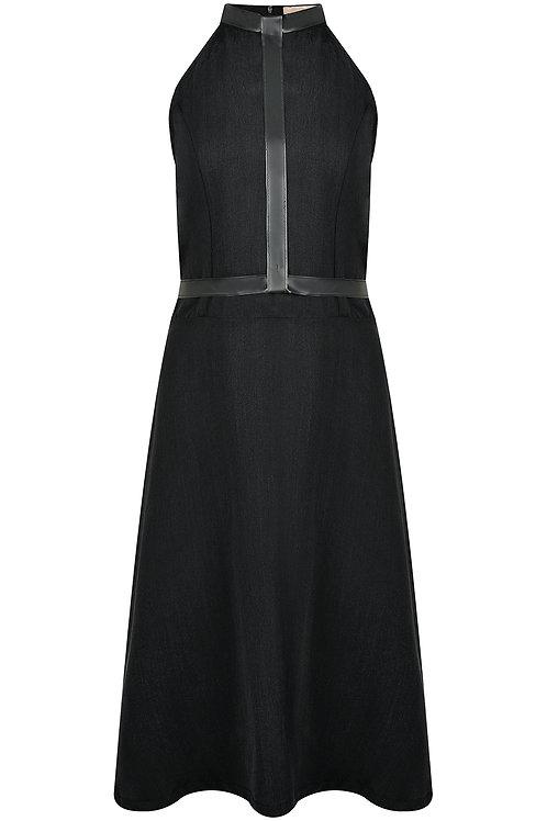 Tencel-Kleid mit abnehmbarem Gürtel