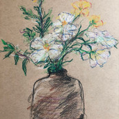 Her bouquet.