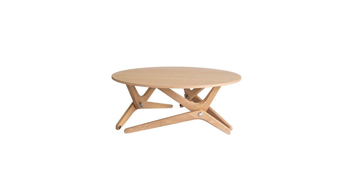 Agence design produit Paris. Table relevable Boulon Blanc.