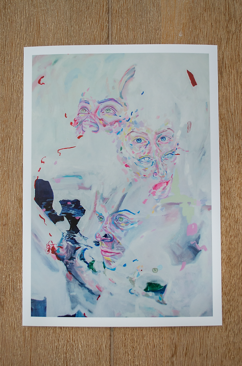 'Scarlet Glow' Large Print