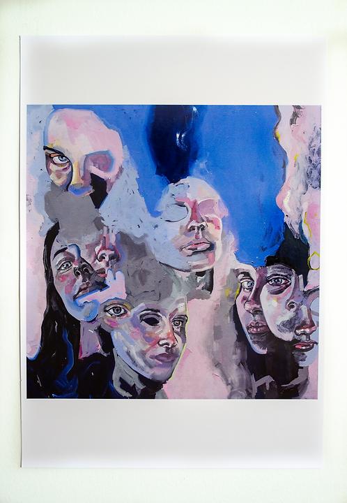 'Divergent Blue' Large Print