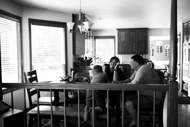 Maple Valley Family Photography at table