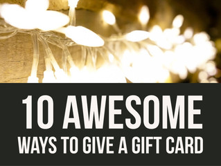 Ten Awesome Ways to Give a Gift Card