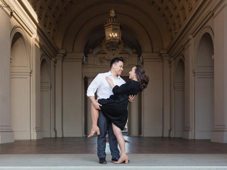 Capturing Romance at Pasadena City Hall