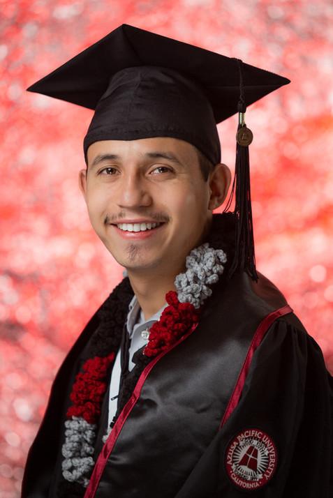 Colorful Senior Session Graduation Photo