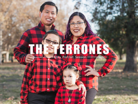 The Terrones' Christmas Portrait Session