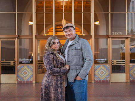 A Romantic Photo Shoot at Union Station