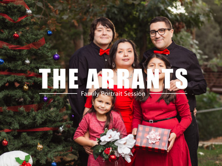 Christmas Portraits with the Arrants Family