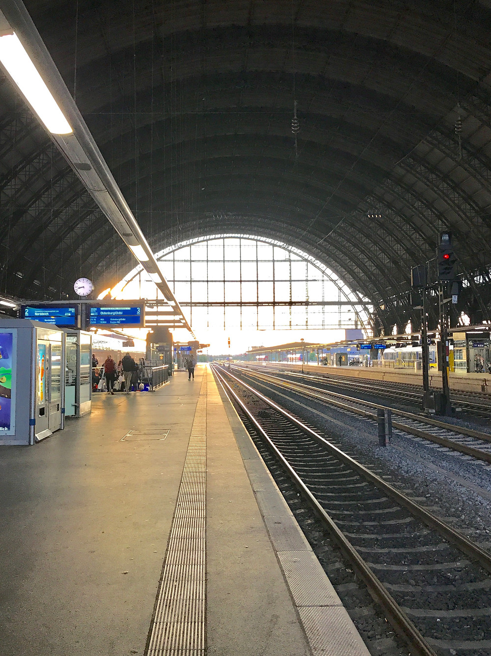 Inside of the Bremen Germany train station just after our arrival there.