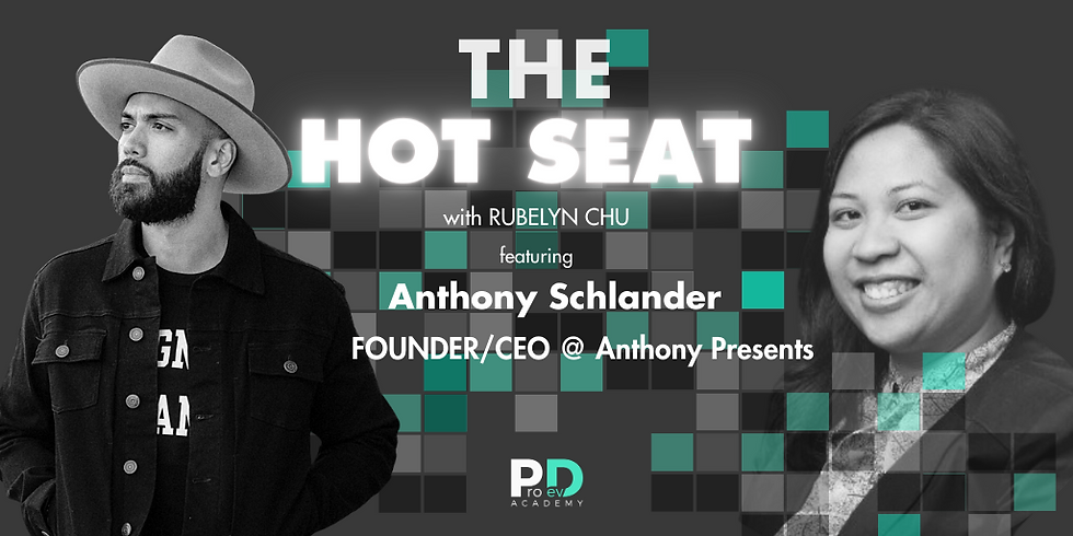 The Hot Seat: Anthony Schlander | Founder/CEO @ Anthony Presents