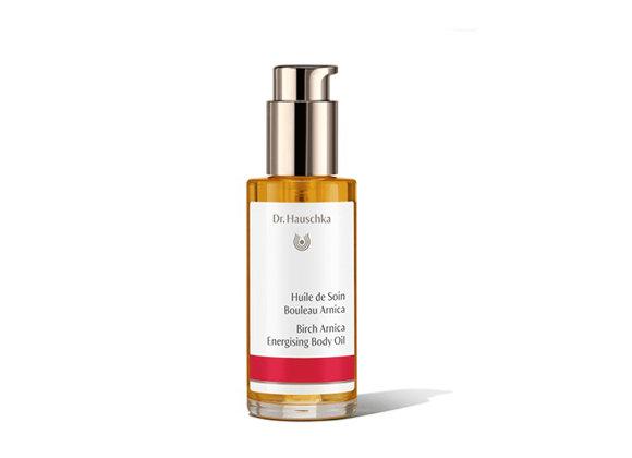 """שמן גוף טבעי ארניקה-שדר ד""""ר האושקה Birch Arnica Energising Body Oil"""