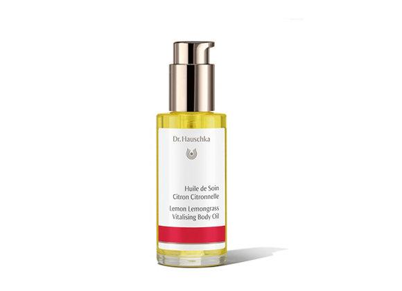 """שמן גוף טבעי לימון-למונגראס ד""""ר האושקה Lemon Lemongrass Vitalizing Body Oil"""