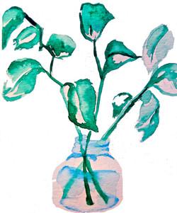 Vase of Leaves