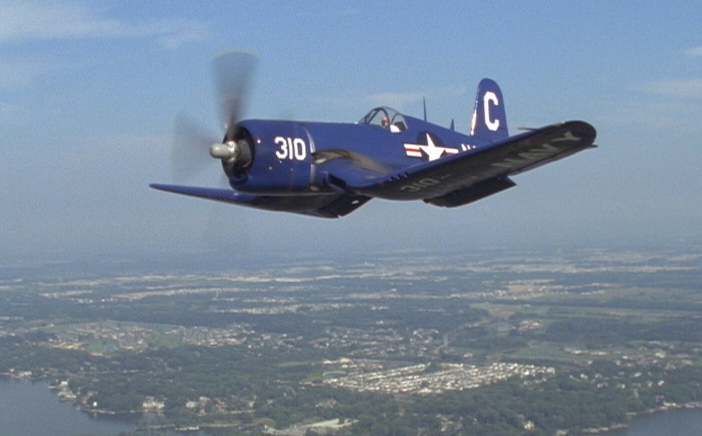 Gerry Beck flying his Corsair