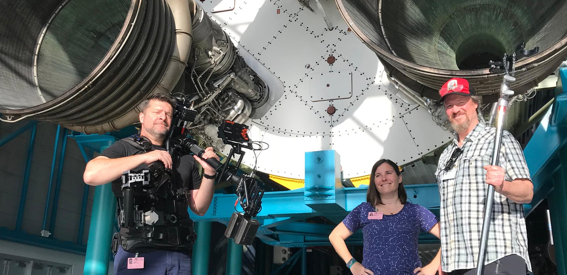 Filming the Saturn V at KSC