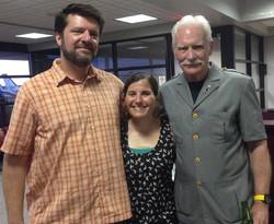 Adam, Kara and Captain Dale Dye
