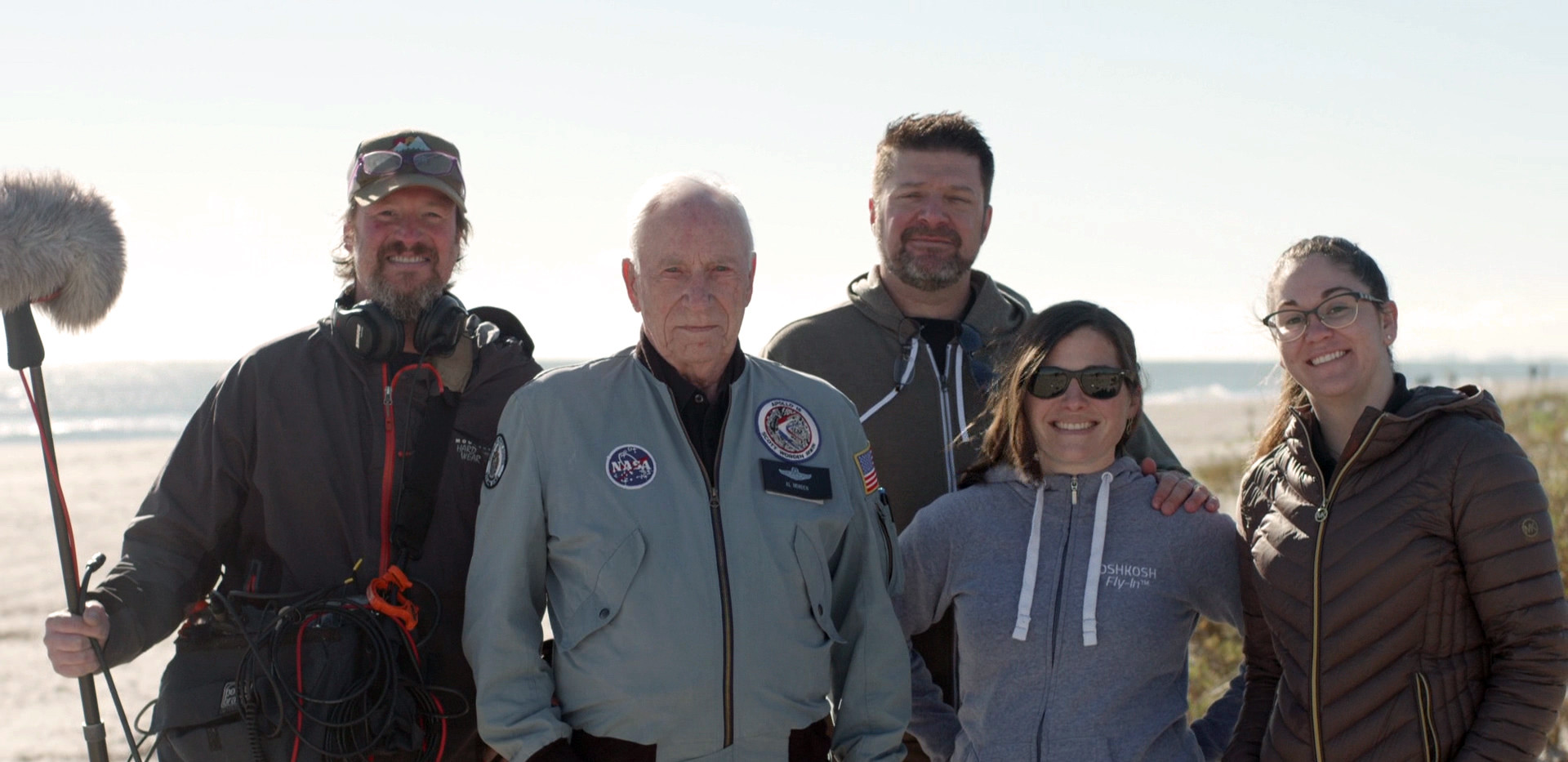 Production crew and astronaut Al Worden