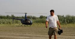 Filming in Alaska wilderness