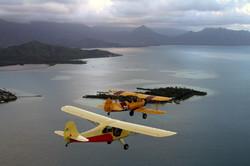 Flying high over Hawaii