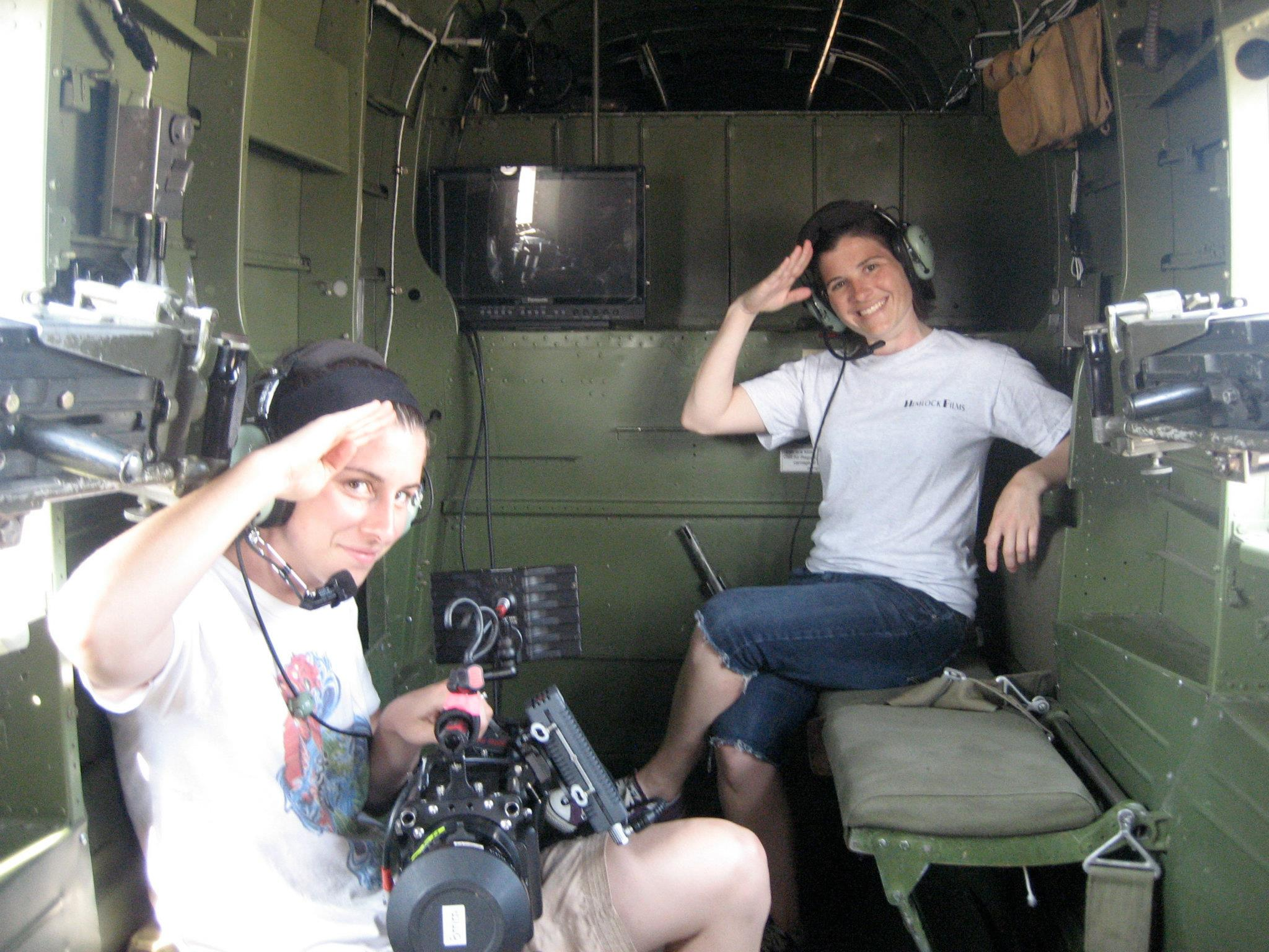 Aerial filming aboard a B-25