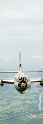 Filming with the CAF's B-29 bomber
