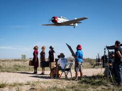 Filming at Avenger Field