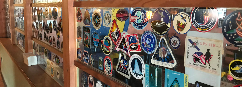 NASA stickers left at The Moon Hut