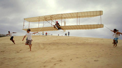 A 1920 Wright glider at Kitty Hawk