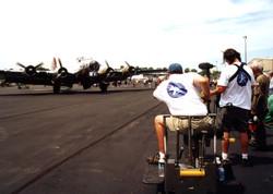 Filming the B-17G Yankee Lady
