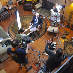 Filming with veteran Jim Martin