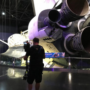 Filming Space Shuttle Orbiter Discovery