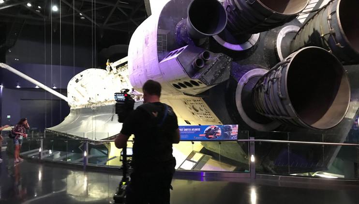 Filming Space Shuttle Atlantis