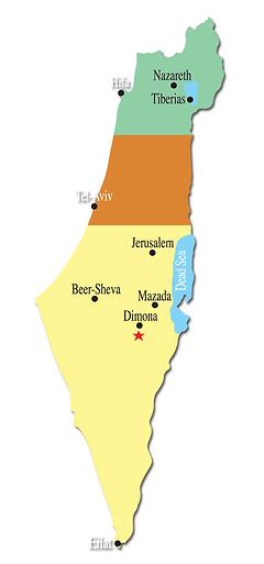 Drachim Hotel in the Negev Israel, Dimona - Area Map