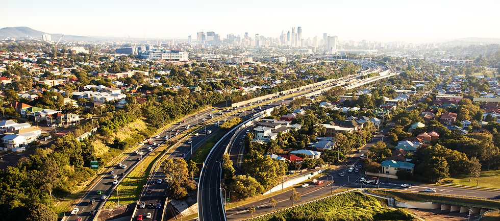 Morning-rush-hour-from-above-in-Brisbane