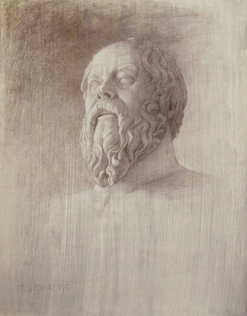 A bust of Socrates 55.8 x 43.8 .jpg