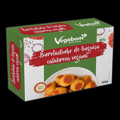 Enroladinho de Linguiça Calabresa Vegana - Vegabom