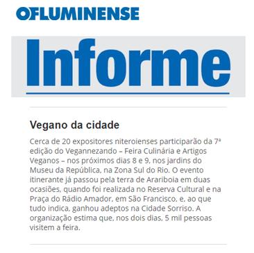 O Fluminense - Vegano da Cidade - Vegannezando