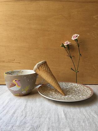 Cone Recheado de Chocolate e Avelã - Chaff  Vegan