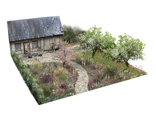 Show Garden Visualisation, RHS Malvern Spring Festival, 2020