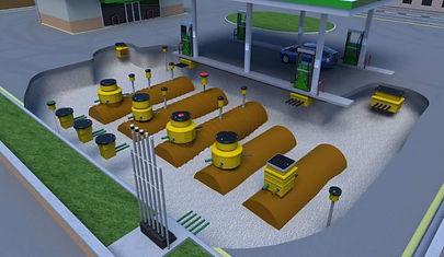 Fibrelite petrol station