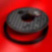 Крышка дорожная Fibrelite FL90-CD