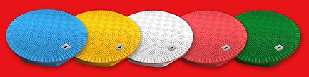 Крышки для дорожек на участке Fibrelite цветные